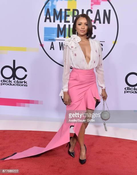 Actress Kat Graham arrives at the 2017 American Music Awards at Microsoft Theater on November 19 2017 in Los Angeles California