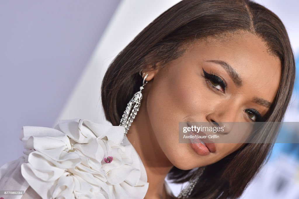 Actress Kat Graham arrives at the 2017 American Music Awards at Microsoft Theater on November 19, 2017 in Los Angeles, California.