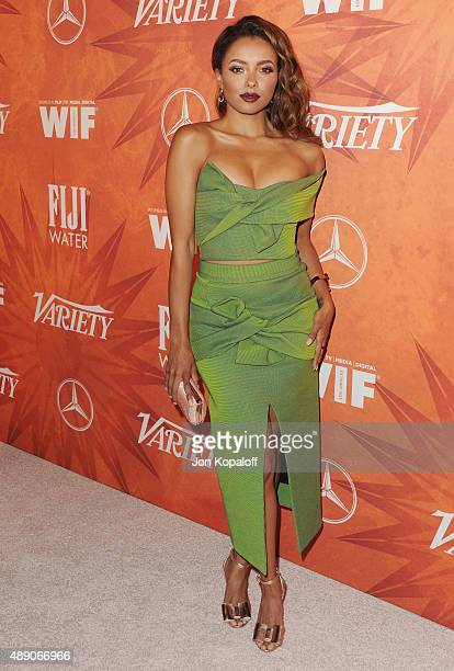 Actress Kat Graham arrives at the Variety And Women In Film Annual PreEmmy Celebration at Gracias Madre on September 18 2015 in West Hollywood...