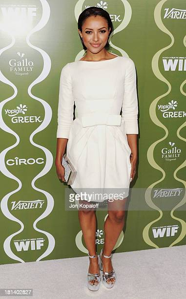 Actress Kat Graham arrives at the Variety And Women In Film Pre-Emmy Party at Scarpetta on September 20, 2013 in Beverly Hills, California.