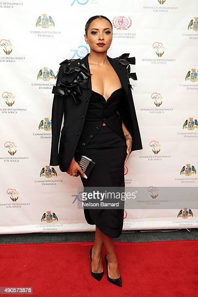 Actress Kat Graham attends a reception gala for the 70th Anniversary of the United Nations and the Post2015 Development Agenda at United Nations on...