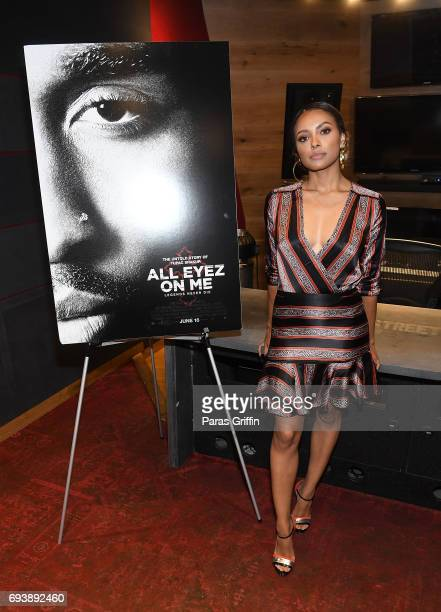 Actress Kat Graham attends 'All Eyez On Me' QA at Means Street Studios on June 8 2017 in Atlanta Georgia