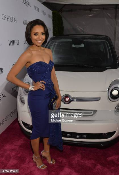 Actress Kat Graham attends DJ Night with L'Oreal Paris during Vanity Fair Campaign Hollywood at Sadie Kitchen and Lounge on February 28 2014 in Los...