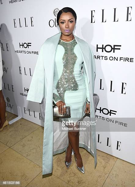 Actress Kat Graham attends ELLE's Annual Women in Television Celebration on January 13 2015 at Sunset Tower in West Hollywood California Presented by...