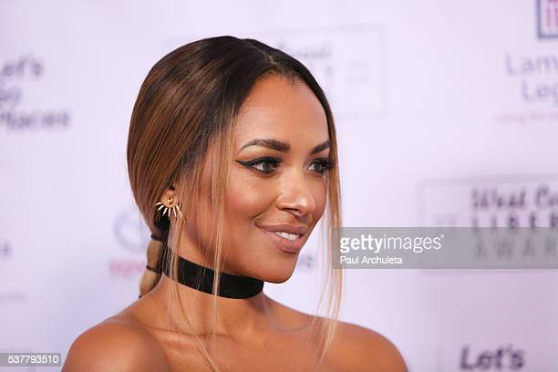 Actress Kat Graham attends Lambda Legals 2016 West Coast Liberty Awards Gala at the Beverly Wilshire Four Seasons Hotel on June 2 2016 in Beverly...