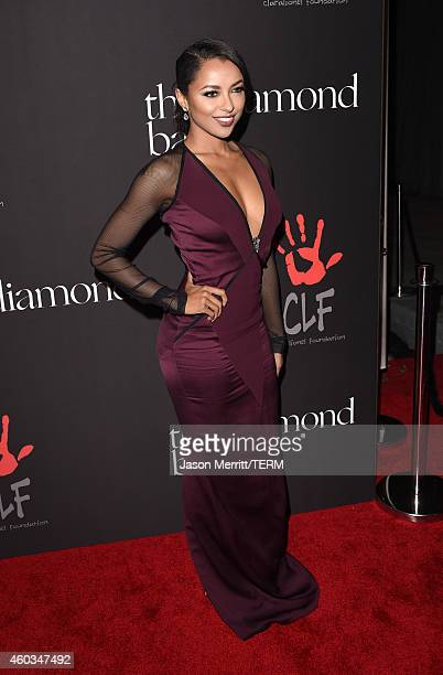Actress Kat Graham attends Rihanna's First Annual Diamond Ball at The Vineyard on December 11 2014 in Beverly Hills California