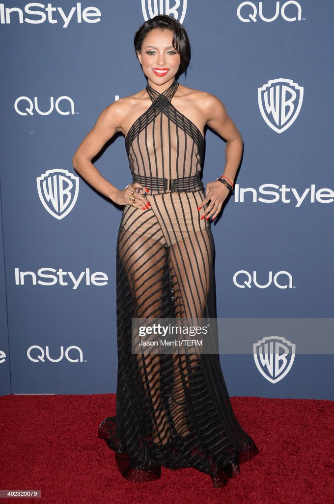 Actress Kat Graham attends the 2014 InStyle and Warner Bros. 71st Annual Golden Globe Awards Post-Party on January 12, 2014 in Beverly Hills, California.