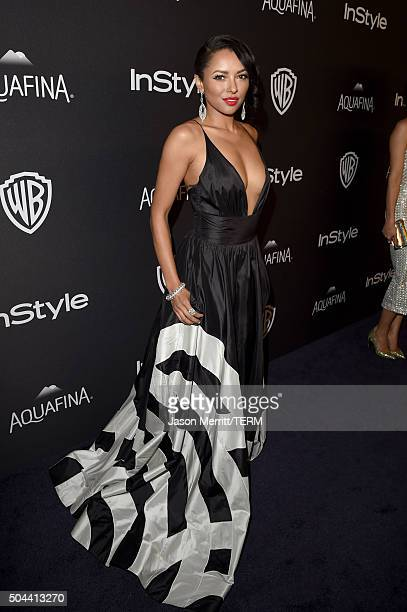 Actress Kat Graham attends The 2016 InStyle And Warner Bros 73rd Annual Golden Globe Awards PostParty at The Beverly Hilton Hotel on January 10 2016...