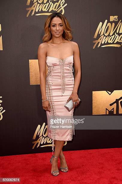 Actress Kat Graham attends the 2016 MTV Movie Awards at Warner Bros Studios on April 9 2016 in Burbank California MTV Movie Awards airs April 10 2016...