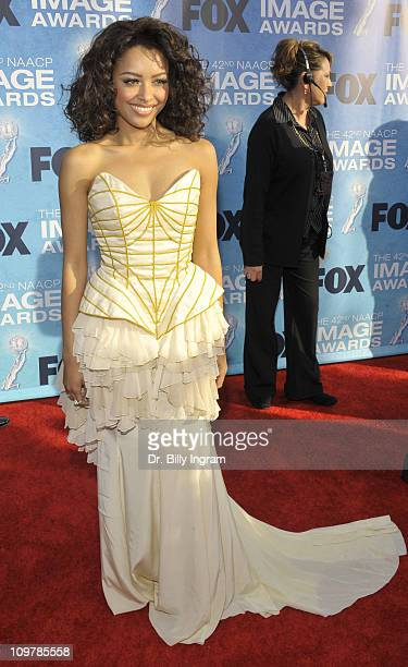 Actress Kat Graham attends the 42nd NAACP Image Awards Arrivals at The Shrine Auditorium on March 4 2011 in Los Angeles California