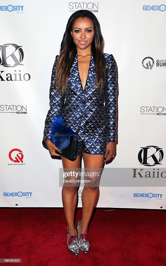 Actress Kat Graham attends the Kaiio's launch event at Station Hollywood at the W Hollywood Hotel on October 17, 2013 in Hollywood, California.