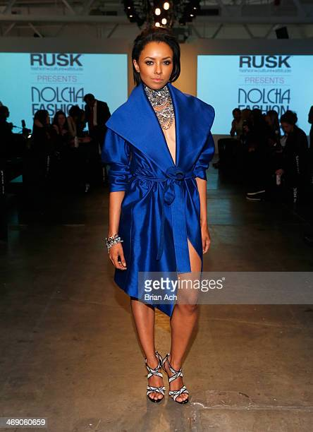 Actress Kat Graham attends the Maison de Papillon show during Nolcha Fashion Week New York Fall/Winter 2014 at Pier 59 on February 12 2014 in New...