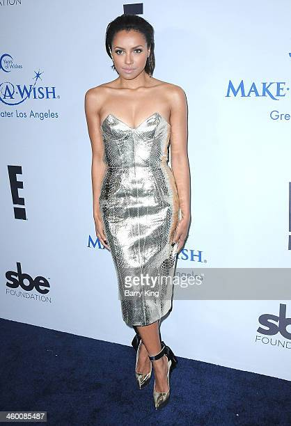 Actress Kat Graham attends The MakeAWish Foundation of greater Los Angeles 2013 Wishing Well Winter Gala on December 4 2013 at The Regent Beverly...