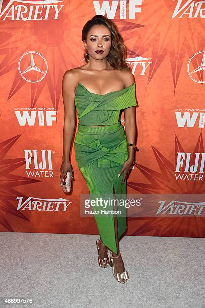 Actress Kat Graham attends the Variety and Women in Film Annual PreEmmy Celebration at Gracias Madre on September 18 2015 in West Hollywood California