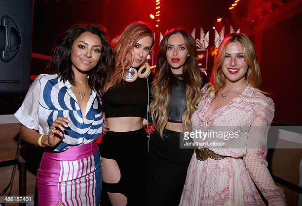Actress Kat Graham DJ Rumer Willis Scout Willis and guest attend the 5th Annual ELLE Women in Music Celebration presented by CUSP by Neiman Marcus...