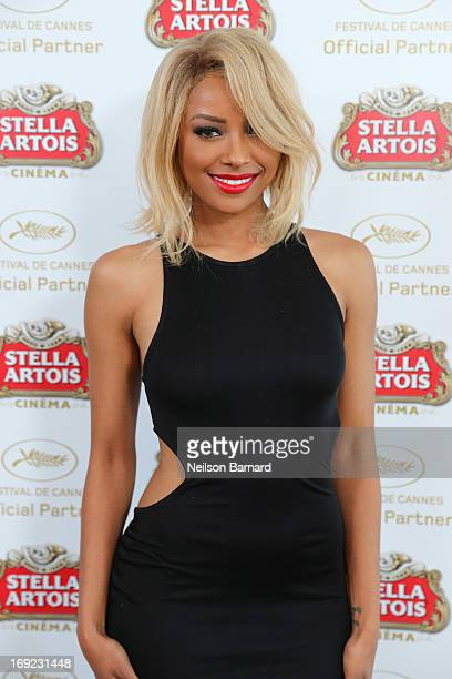 Actress Kat Graham visits The Stella Artois Suite during The 66th Annual Cannes Film Festival at Radisson Blu on May 22 2013 in Cannes France