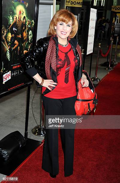 Actress Kat Kramer arrives at the premiere of 'Stan Helsing' Bo Zenga's hilarious horror film parody held at ArcLight Hollywood on October 20 2009 in...