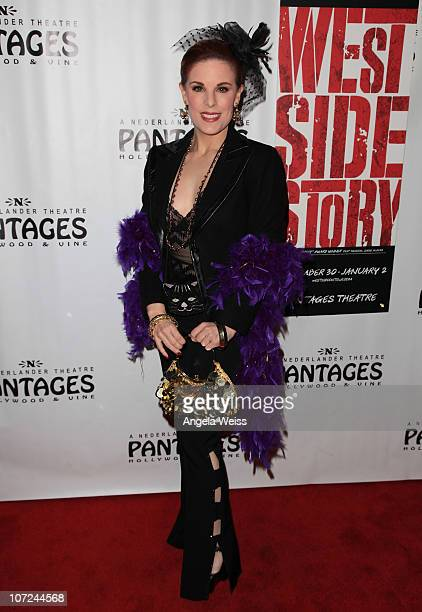 Actress Kat Kramer attends the opening night of 'West Side Story' at the Pantages Theatre on December 1 2010 in Hollywood California
