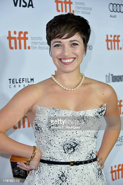 Actress Kat Steffens arrives at the Parkland premiere during the 2013 Toronto International Film Festival at Roy Thomson Hall on September 6 2013 in...