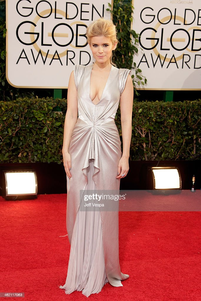 Actress Kata Mara attends the 71st Annual Golden Globe Awards held at The Beverly Hilton Hotel on January 12, 2014 in Beverly Hills, California.