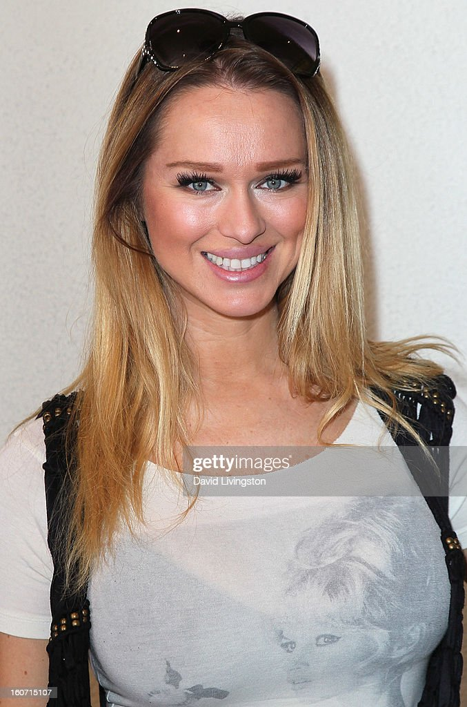 Actress Katarina Van Derham attends the Anti-Human Trafficking Family Charity Luncheon in support of Unlikely Heroes at the Veggie Grill on February 4, 2013 in Los Angeles, California.