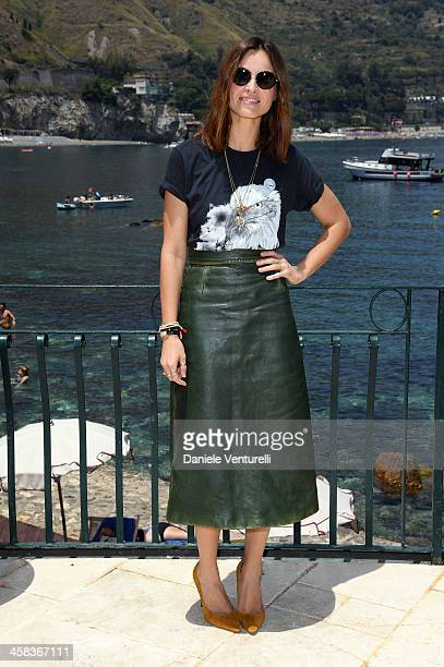 Actress Katarzyna Smutniak attends a press conference for Nastri D'Argento on July 2 2016 in Taormina Italy