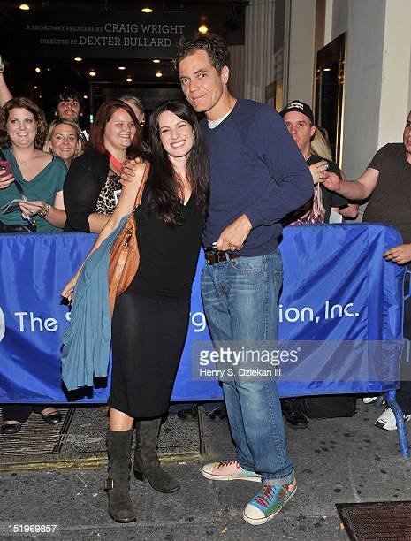 Actress Kate Arrington and actor Michael Shannon attend the Grace Broadway Preview Performance Fan Meet And Greet at Cort Theatre on September 13...