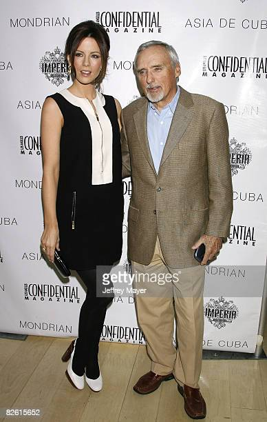 Actress Kate Beckinsale and actor Dennis Hopper attend Los Angeles Confidential Magazine's preOscar luncheon held on February 22 2008 at the Mondrian...
