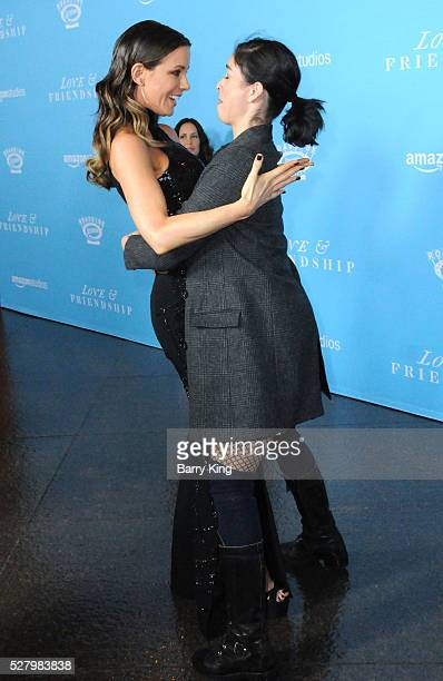 Actress Kate Beckinsale and actress Sarah Silverman attend the premiere of Roadside Attractions' 'Love And Friendship' at Directors Guild of America...