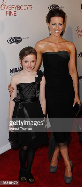 Actress Kate Beckinsale and daughter Lily Mo Sheen attend the Tribeca Institute Benefit Screening of the movie Everybody's Fine at Loews Lincoln...
