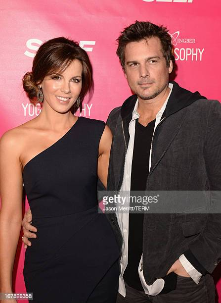 Actress Kate Beckinsale and director Len Wiseman attend SELF Magazine and Jennifer Aniston's celebration of Mandy Ingber's new book 'Yogalosophy 28...