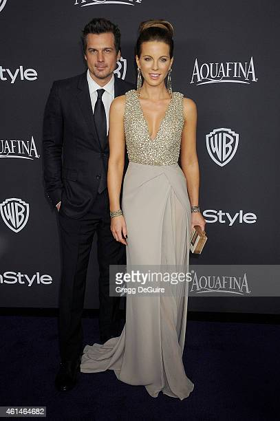 Actress Kate Beckinsale and husband Len Wiseman arrive at the 16th Annual Warner Bros And InStyle PostGolden Globe Party at The Beverly Hilton Hotel...