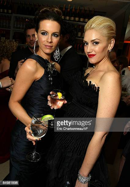 Actress Kate Beckinsale and musician Gwen Stefani attend the 2009 Vanity Fair Oscar party hosted by Graydon Carter at the Sunset Tower Hotel on...