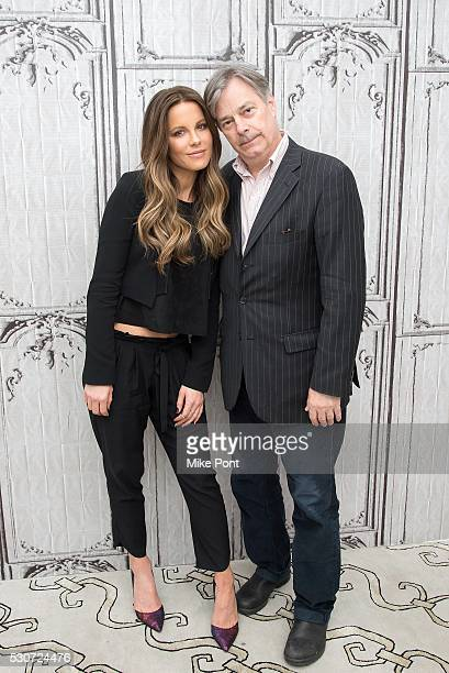 Actress Kate Beckinsale and writer/director Whit Stillman attend the AOL Build Speaker Series to discuss Love Friendship on May 11 2016 in New York...
