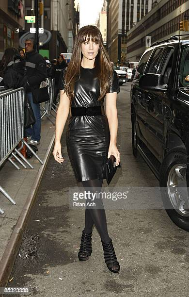 Actress Kate Beckinsale around Bryant Park during MercedesBenz Fashion Week Fall 2009 on February 19 2009 in New York City