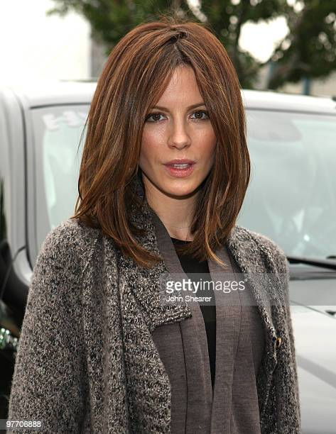Actress Kate Beckinsale arrives at Chevy Rocks The Future at the Buena Vista Lot at The Walt Disney Studios on February 19 2008 in Burbank California