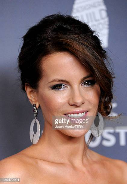 Actress Kate Beckinsale arrives at the 14th Annual Costume Designers Guild Awards With Presenting Sponsor Lacoste held at The Beverly Hilton hotel on...