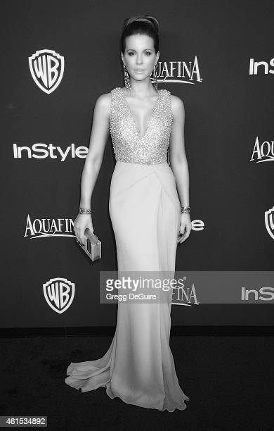 Actress Kate Beckinsale arrives at the 16th Annual Warner Bros And InStyle PostGolden Globe Party at The Beverly Hilton Hotel on January 11 2015 in...
