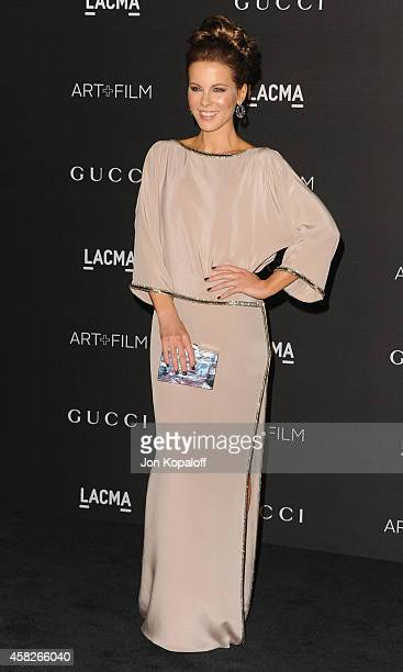 Actress Kate Beckinsale arrives at the 2014 LACMA Art Film Gala Honoring Quentin Tarantino And Barbara Kruger at LACMA on November 1 2014 in Los...