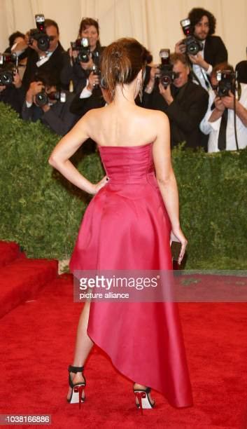 Actress Kate Beckinsale arrives at the Costume Institute Gala for the 'Punk Chaos to Couture' exhibition at the Metropolitan Museum of Art in New...