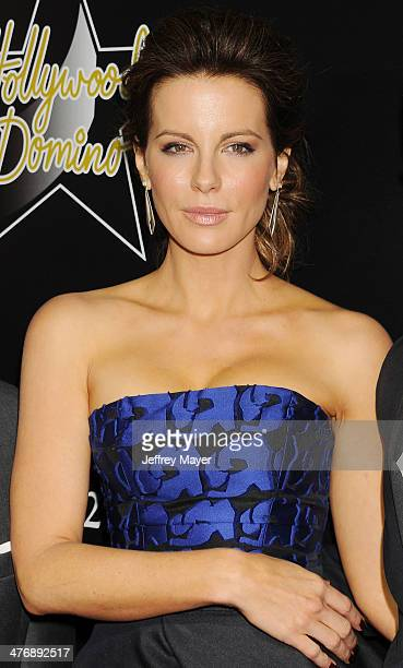 Actress Kate Beckinsale arrives at the Hollywood Domino's 7th Annual PreOscar Charity Gala at Sunset Tower on February 27 2014 in West Hollywood...