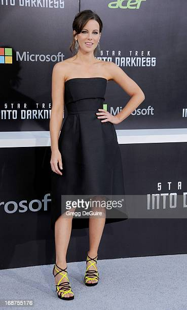 Actress Kate Beckinsale arrives at the Los Angeles premiere of 'Star Trek Into Darkness' at Dolby Theatre on May 14 2013 in Hollywood California