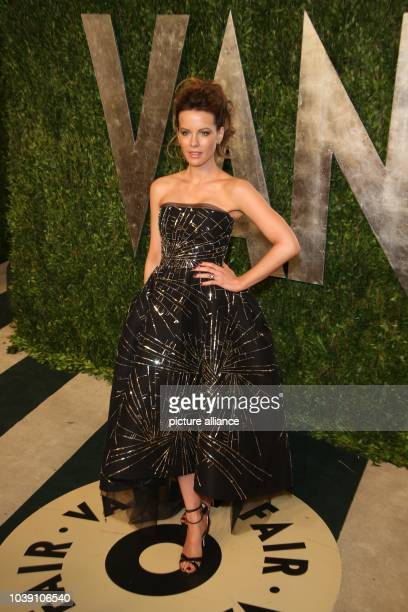 Actress Kate Beckinsale arrives at the Vanity Fair Oscar Party at Sunset Tower in West Hollywood Los Angeles USA on 24 February 2013 Photo Hubert...