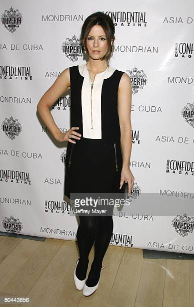 Actress Kate Beckinsale attends Los Angeles Confidential Magazine's preOscar luncheon held on February 22 2008 at the Mondrian Hotel in West...