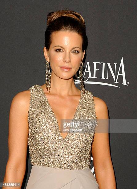 Actress Kate Beckinsale attends the 16th Annual Warner Bros and InStyle PostGolden Globe Party at The Beverly Hilton Hotel on January 11 2015 in...