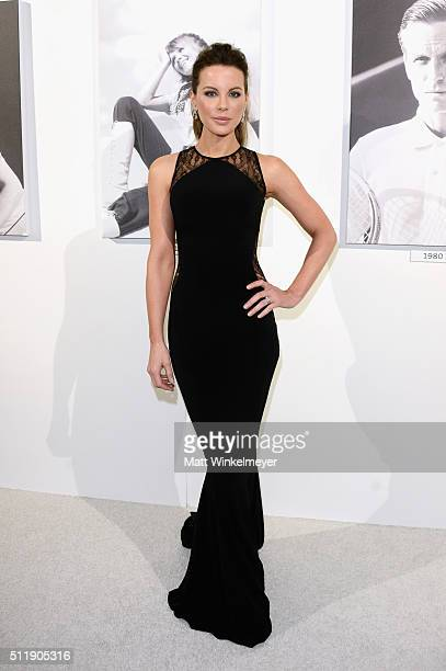 Actress Kate Beckinsale attends the 18th Costume Designers Guild Awards with Presenting Sponsor LACOSTE at The Beverly Hilton Hotel on February 23...