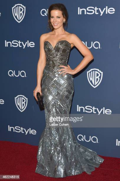 Actress Kate Beckinsale attends the 2014 InStyle And Warner Bros. 71st Annual Golden Globe Awards Post-Party held at The Beverly Hilton Hotel on...