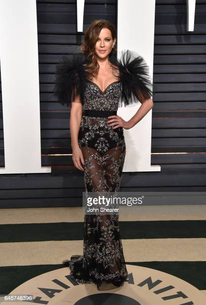 Actress Kate Beckinsale attends the 2017 Vanity Fair Oscar Party hosted by Graydon Carter at Wallis Annenberg Center for the Performing Arts on...