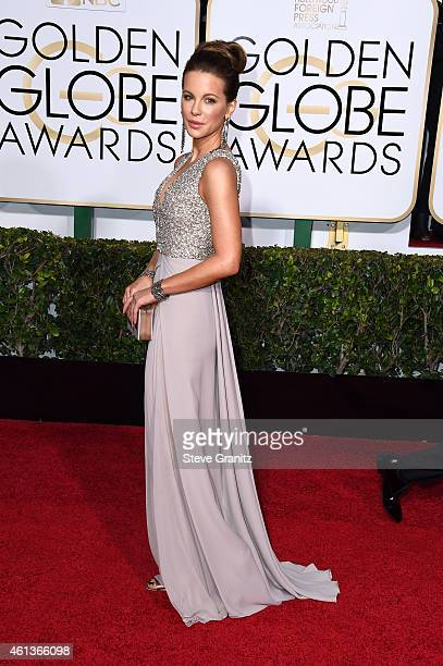 Actress Kate Beckinsale attends the 72nd Annual Golden Globe Awards at The Beverly Hilton Hotel on January 11 2015 in Beverly Hills California