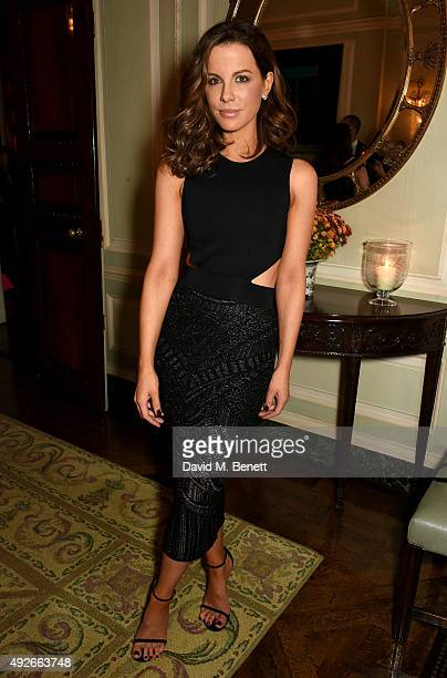 Actress Kate Beckinsale attends The Academy Of Motion Pictures Arts Sciences new members reception hosted by Ambassador Matthew Barzun and Mrs Brooke...